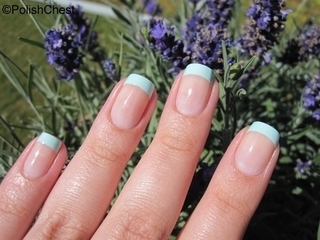 Mint French nail art by Danny - Nailpolis: Museum of Nail Art (372826)