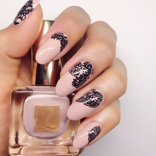 Nide, lace nails - so amazing!!! by Girly_Things | We Heart It (374675)