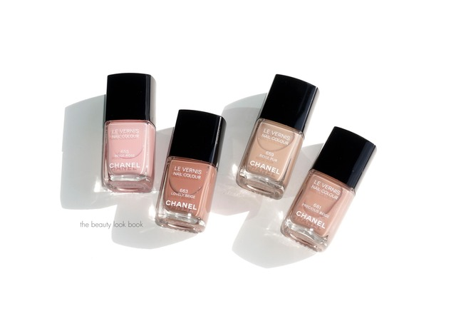 The Beauty Look Book: Chanel Les Beiges Le Vernis: Beige Rose, Beige Pur, Precious Beige and Lovely Beige (380363)