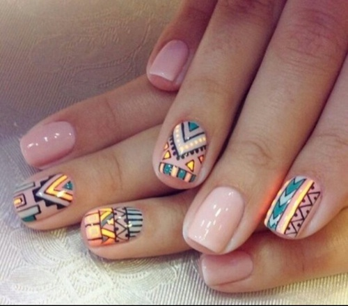 Cute nail. Add so tags PLZ it will mean the world to me please and thank u 😊 by Amorporel27 | We Heart It (382845)