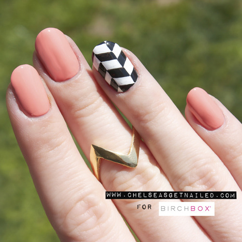 How To: Chevron Nail Art: Guest Blogger | Birchbox (383190)