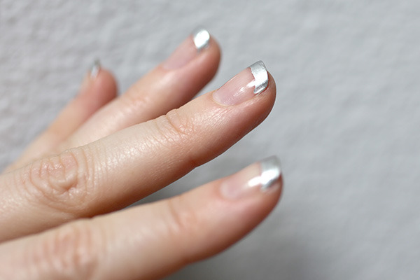 DIY Metallic-Tipped Nail Art: How to Extend the Life Of Any Manicure 2 - Chic Steals (384683)