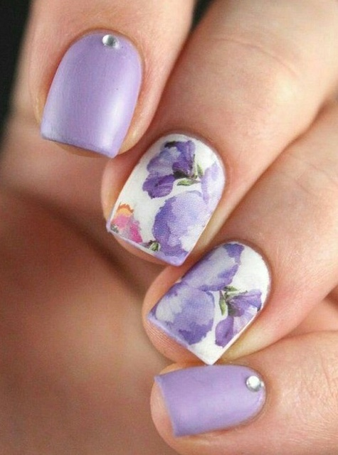 Lavender Nail Art by Whitney | We Heart It (390977)