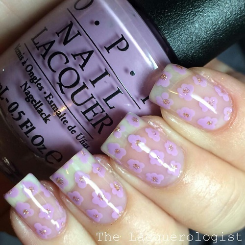 Floral Nail Art by Indide | We Heart It (390978)