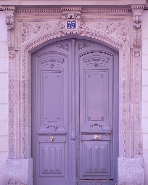 #purple #door #pastel  by moved accounts ️ | We Heart It (390979)