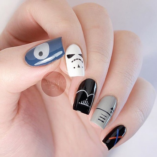 Star Wars nails💅 by Sona | We Heart It (392035)