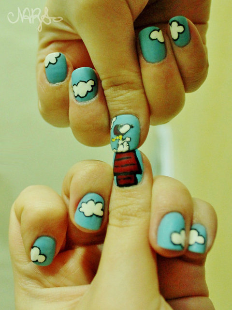 Snoopy NailArt 2 by natsy-alencar on DeviantArt (394346)