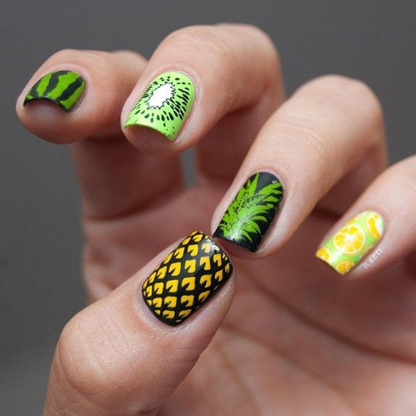 65 Lovely Summer Nail Art Ideas | Art and Design (394369)