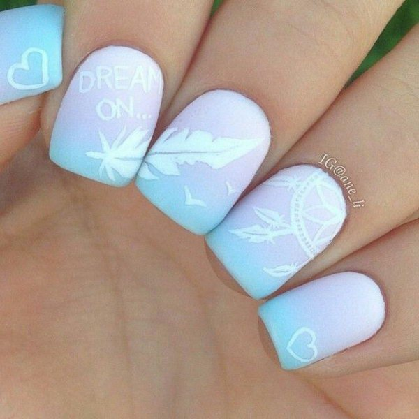 Creative Feather Nail Art Designs - Hative (394380)