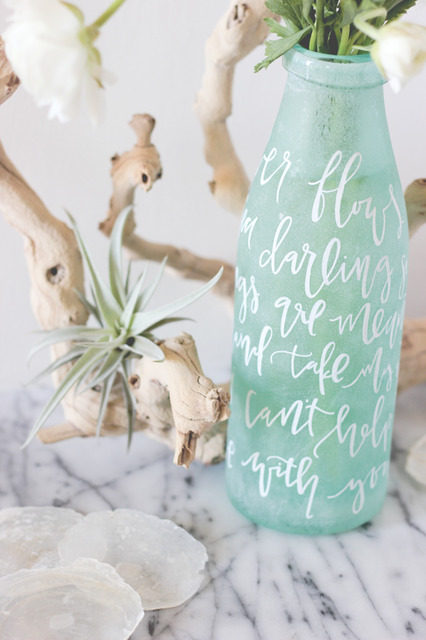 Lettered Vase Centerpiece DIY |  Julep (396262)