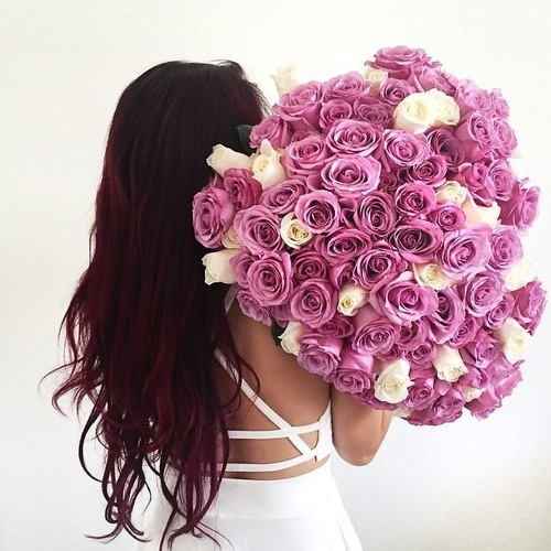 #hairstyles, #flowers, #roses, #beautiful by Amira | We Heart It (399640)