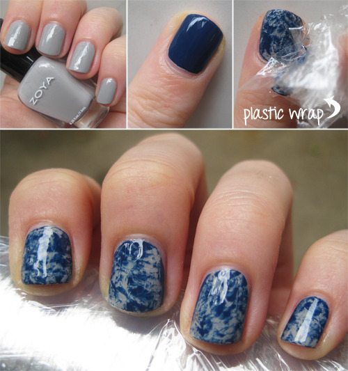 Get Marble Nails with Plastic Wrap: Mani Monday | Birchbox (404469)