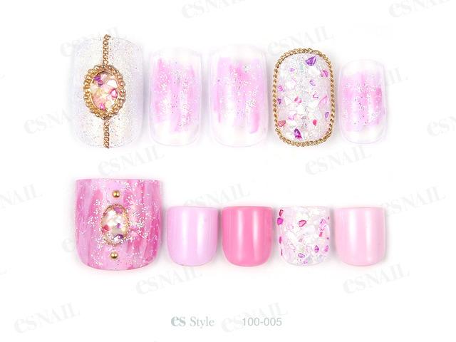 淡めのピンクとピンク系のシェルでラブリーにまとめました...