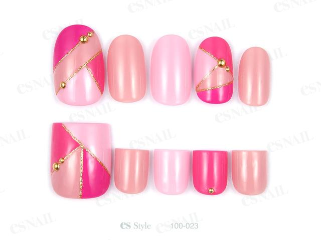 4色のピンクを使って春らしいマルチカラーで仕上げました...