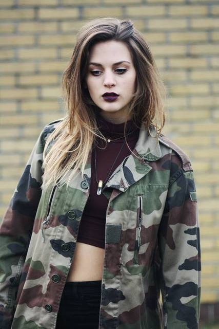 military jacket and crop top by Hiraki Kasumi | We Heart It (432077)