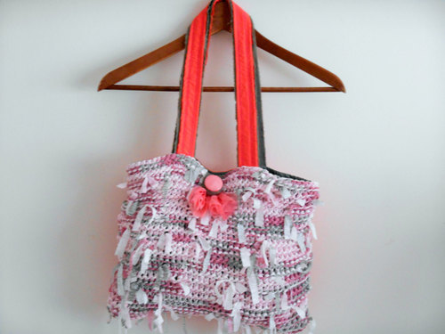 Mesh Bags, Handmade Handbags, Women's Handbags, Bags Crochet, Knitting Gifts, Eco-Friendly Bag, Pink Bags, Sewing by MimosaKnitting | We Heart It (432095)