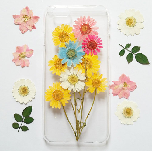 daisy iPhone 6s Case, iPhone 6s Plus Case Clear, Pressed Flower iPhone 6 Case, Clear iPhone 6s Case, iPhone 6s Plus Case, iphone 6 case by Sophia Ding | We Heart It (435817)