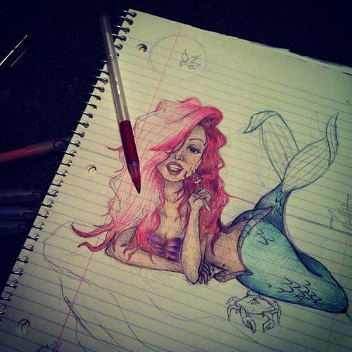 ariel, amazing, colored pencil - inspiring picture on Favim.com by Matheus. | We Heart It (442044)