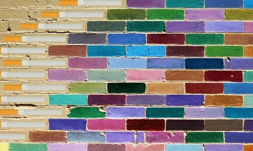 bricks, art, and colors by Maria Eduarda Variani | We Heart It (457744)