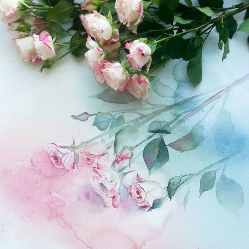🎨 Watercolorist: @elita_kim#waterblog #color #акварель #art #paint #aquarelle #watercolor #drawing #painting by Mia Mes | We Heart It (463039)