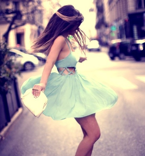 Dress: beautiful, summer, party, lovely, girly, white, hair, gorgeous, legs, vintage, style, fashion, outfit, flirty, skirt, mint, weheartit             - Wheretoget (478356)