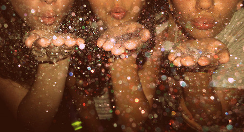blowing, friends, friendship, girl, girl in paradise, glitter - inspiring picture on Favim.com by Jannet | We Heart It (488098)
