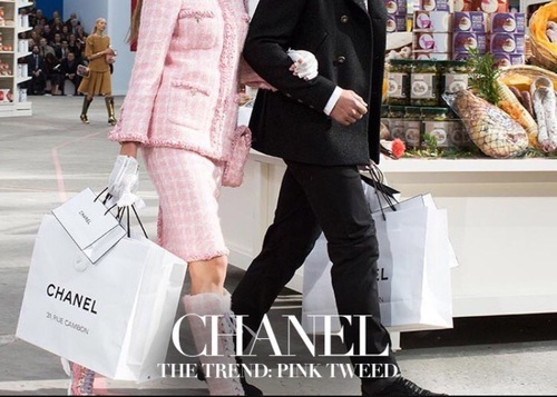 chanel, pink tweed, and chic by e | We Heart It (494941)