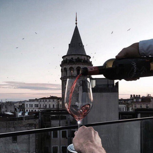 ph by Mazer | We Heart It | city, istanbul, and wine (509036)