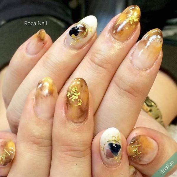 金箔×鼈甲ネイル