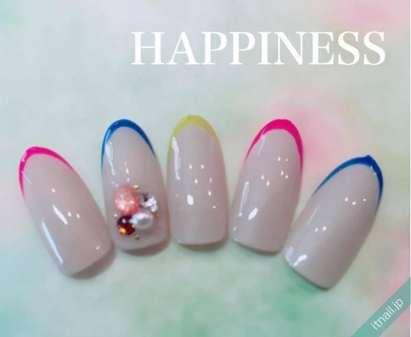 HAPPINESS (大阪・西田辺)が投稿したネイルデザイン [photoid:I0039353] via Itnail Design (557868)
