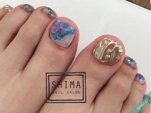SHIMA (愛知)が投稿したネイルデザイン [photoid:I0041817] via Itnail Design (562826)