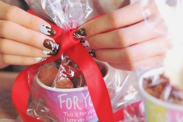 甘さ伝える、甘~いチョコネイル