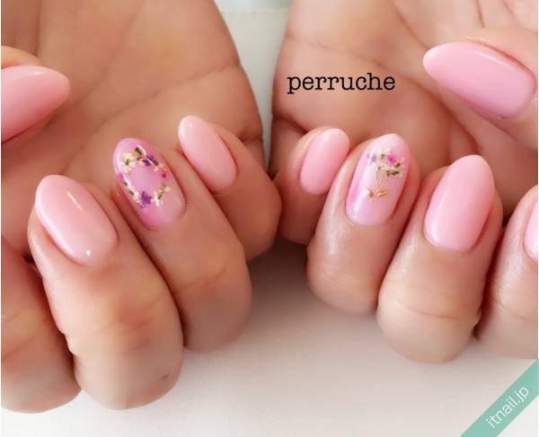 ピンク×小花で安定可愛い♡