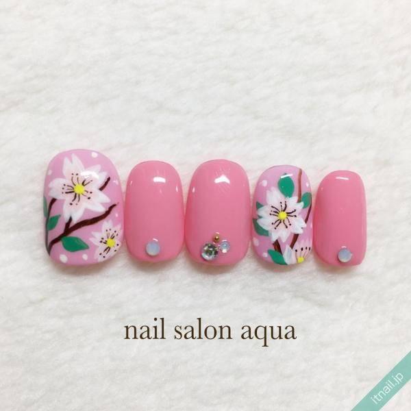 しっかりペイントの桜が可愛い♡