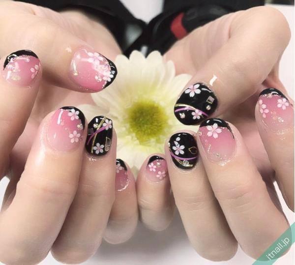 桜で作る和ネイル