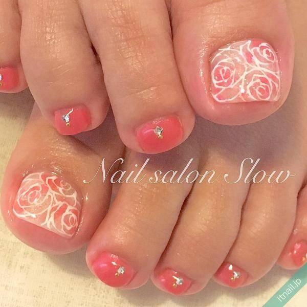 甘いピンクカラーと薔薇で大人♡