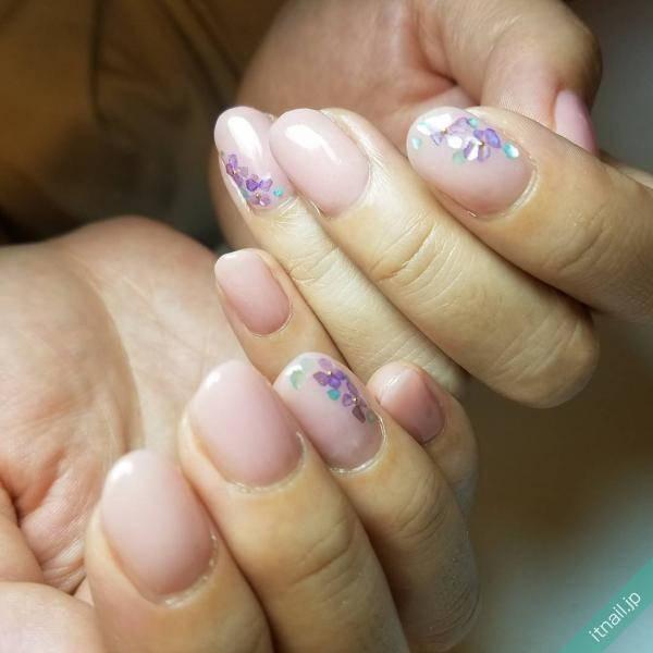 大人な紫陽花ネイル