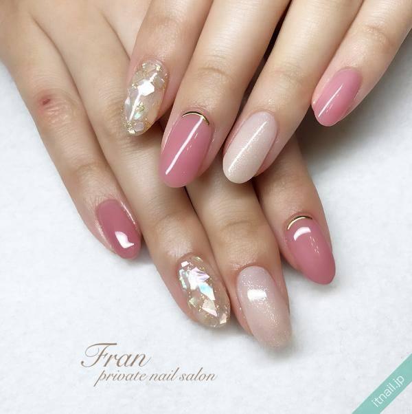 桜ピンクネイル