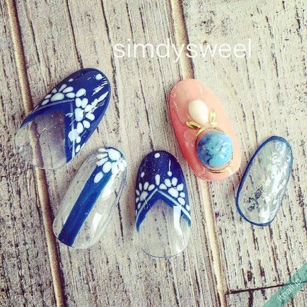 フレンチ陶器ネイル