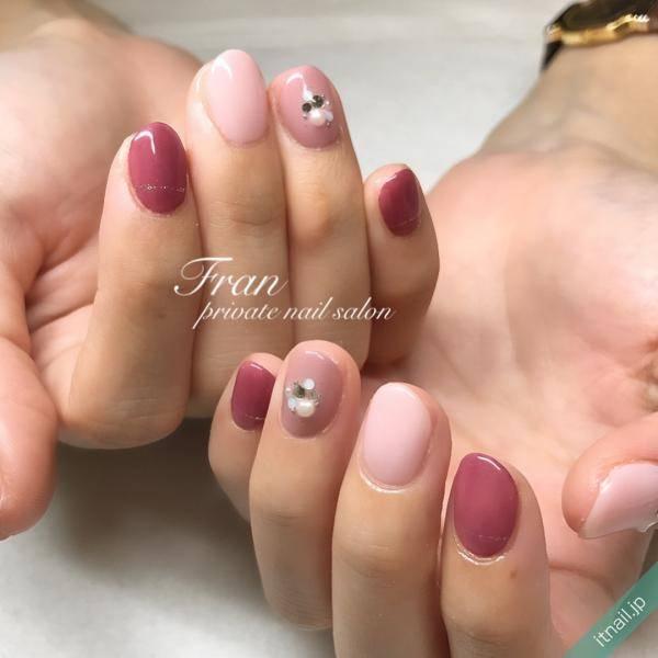 色んな色味のピンクネイル