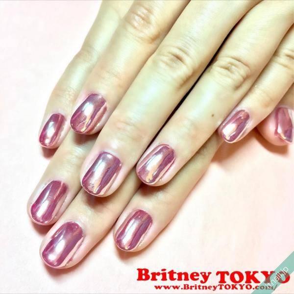 ピンク×ミラーネイル