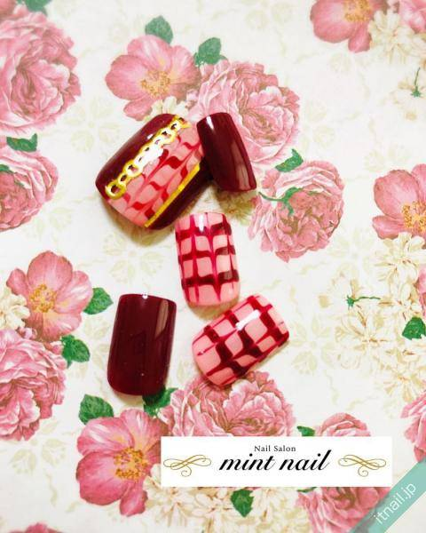 mint nail (岡山)が投稿したネイルデザイン [photoid:I0060883] via Itnail Design (591621)
