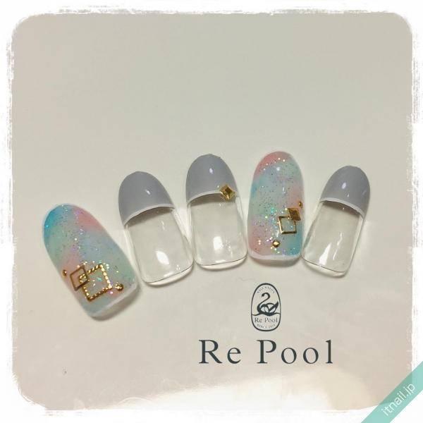 Re Pool (東京・世田谷)が投稿したネイルデザイン [photoid:I0053535] via Itnail Design (595738)