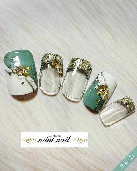mint nail (岡山)が投稿したネイルデザイン [photoid:I0077824] via Itnail Design (619442)