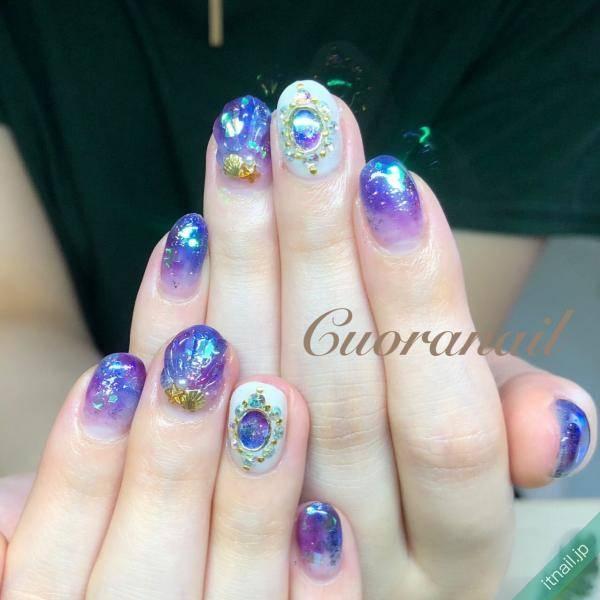 Cuoranail (帯広)が投稿したネイルデザイン [photoid:I0072871] via Itnail Design (622596)