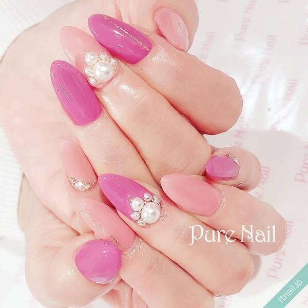 Pure Nailが投稿したネイルデザイン [photoid:I0092034] via Itnail Design (638506)