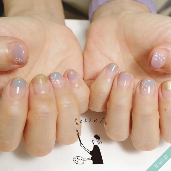 小粒nailが投稿したネイルデザイン [photoid:I0087090] via Itnail Design (638823)