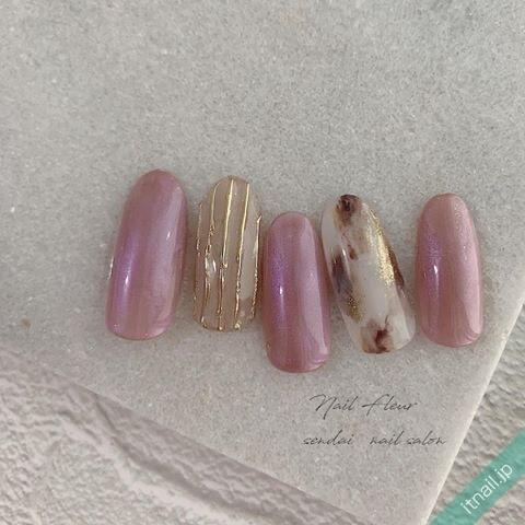 Nail fleurが投稿したネイルデザイン [photoid:I0089975] via Itnail Design (640078)