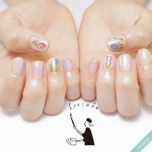 小粒nailが投稿したネイルデザイン [photoid:I0075459] via Itnail Design (641263)