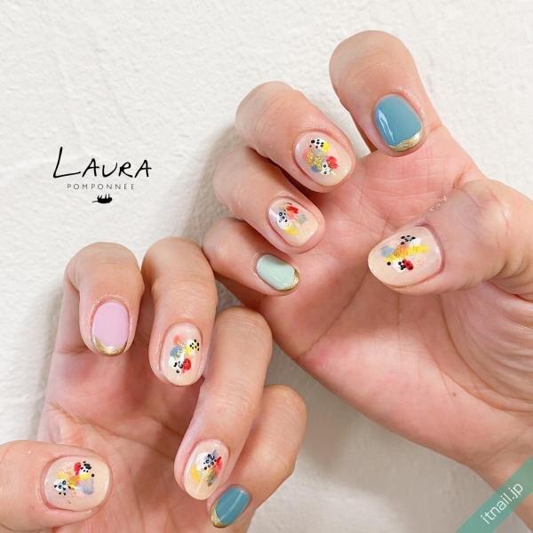 LAURA POMPONNEEが投稿したネイルデザイン [photoid:I0095292] via Itnail Design (642401)